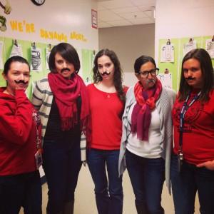 Mustache Day - 3rd Grade 3.21.14
